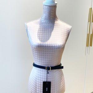 Hugo Boss textured Leather belt
